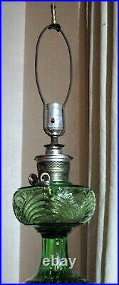 RARE 1939 Aladdin Washington Drape GN Glass Oil Kerosene Lamp Nu-Type Model B40