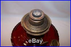 RARE 1939 Ruby Red Aladdin lamp Short Lincoln Drape B-62