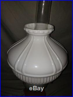 RARE Aladdin Moonstone Corinthian Model 126-B Kerosene Lamp Opal & Rose withShade
