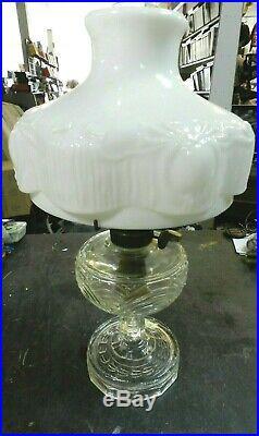 RARE VINTAGE 20'' Tall Aladdin Lincoln Drape Kerosene Lamp with White Shade