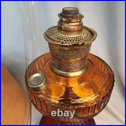 RARE Vintage, Aladdin Yellow Kerosene Lamp With Clothe Shade