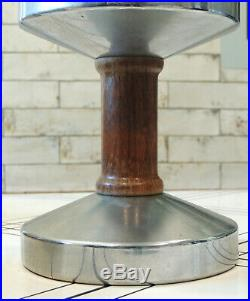 Rare 1930s FARMOR Art Deco Chrome Kerosene Oil LAMP Sears Aladdin/Coleman-type