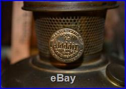 Rare Aladdin Model #12 Green Venetian Variegated Art Craft #1243 Vase Lamp 1931
