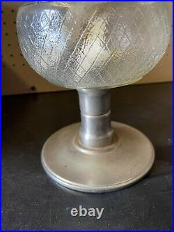 Rare Aladdin Railroad Pedestal Kerosene Lamp Lantern Model C Burner Glass Globe