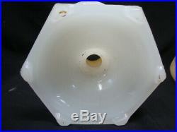 Rare Aladdin White Moonstone Florentine Kerosene Lamp with Whip-o-lite Shade Nice