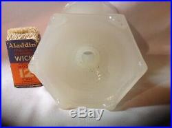 Rare Aladdin white moonstone florentine kerosene oil lamp with new wick