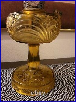 Rare Antique Aladdin Mod. B Washington Drape Honey Glass Kerosene Oil Lamp Base