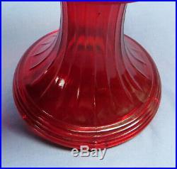 Rare Vintage 1979 Aladdin Ruby Red Short Lincoln Drape Oil/Kerosene Lamp