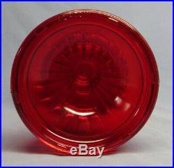 Rare Vintage 1979 Aladdin Ruby Red Short Lincoln Drape Oil/Kerosene Lamp EXC