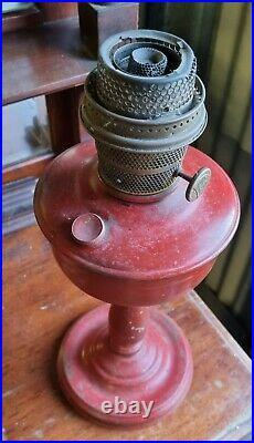 Rare Vintage Red ALADDIN MODEL B Oil Kerosene LAMP