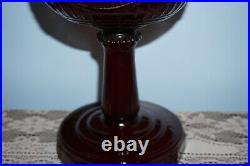 Reproduction Aladdin Ruby Tall Lincoln Drape Oil Kerosene Lamp