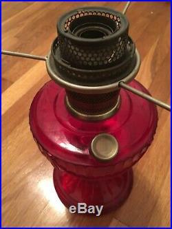Ruby Red Short Lincoln Drape 1979 Aladdin Lamp