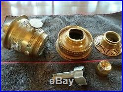 SAPPHIRE BLUE SHORT LINCOLN DRAPE ALADDIN KEROSENE OIL LAMP 1989. Not Cobalt