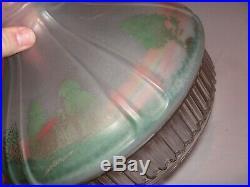 Scarce, Original Aladdin 601s Kerosene Lamp Shade, Hand Painted Cabin Scene