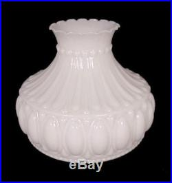 Student Lamp Shade Milk Glass Cameo 10 Fits Aladdin