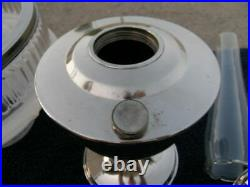 Super Aladdin Table Lamp 1932 Model 14 Nickel Burner & Chimney British Made RARE