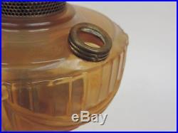 Super Rare 1939 B-61O Amber-Opalique Aladdin Short Lincoln Drape Oil Lamp BIN