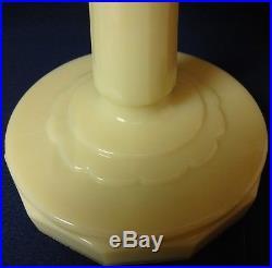 Tall Lincoln Drape Scalloped Foot Alacite Kerosene Lamp Aladdin Mantle Lamp Co