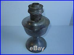Used Aladdin Kerosene Mantle Lamp Company Model 21 ENGLISH Aluminum Table Lamp