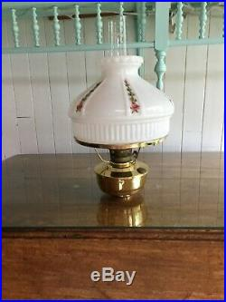 Used Aladdin oil lamp # 23 bought in 1999 hand painted and signed 1998