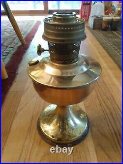 VINTAGE ALADDIN BRASS KEROSENE OIL LAMP Retails $410