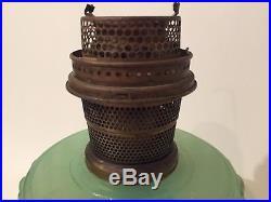 VINTAGE ALADDIN MODEL B JADEITE OIL/KEROSENE LAMP CONDITION Unique FAST SHIP