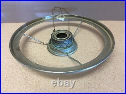 VINTAGE ANTIQUE 1930'S ALADDIN GREEN DRAPE GLASS KEROSENE OIL LAMP Complete
