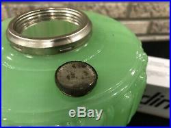VTG ALADDIN 1934 GREEN CATHEDRAL KEROSENE LAMP Lantern Nu- Type B Brunner