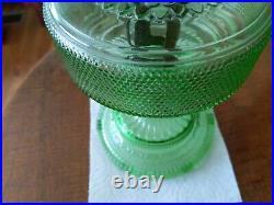 VTG ALADDIN GREEN BEEHIVE LAMP with Model B BURNER KEROSENE