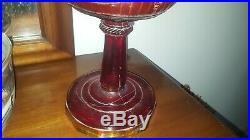 VTG ALADDIN Lamp Kit NOS Amber Glass Lincoln Drape Oil Kerosene 23 Burner Mantle