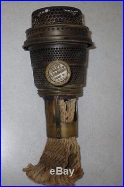 VTG ALADDIN MARKED NU-TYPE MODEL B BRASS OIL/KEROSENE LAMP BURNER #8