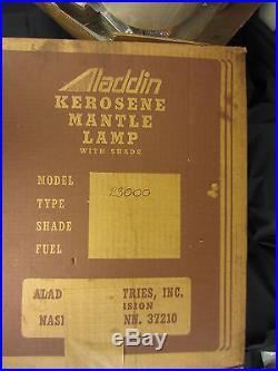 VTG. ALADDIN RAILROAD CABOOSE KEROSENE MANTLE LAMP WithWALL BRACKET #23000. BOX