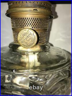 VTG ALADDIN WASHINGTON DRAPE OIL/KEROSENE LAMPNU-TYPE MODEL B Clear Glass