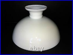 VTG DANISH White Milk Glass Aladdin Kerosene Hurricane Oil Lamp Shade 13 Fitter