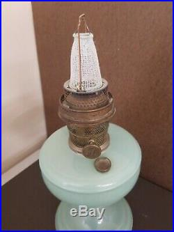 Venetian Aladdin Model A Lamp Pastel Green crystal 1932-1933 with burner