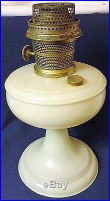 Venetian White Kerosene Lamp Aladdin Mantle Lamp Company