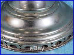 Vintage 1920's Model 11 Nickel Plated Chimney Mantle Lamp Aladdin Kerosene Oil