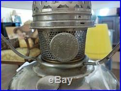 Vintage 1922-1928 Aladdin Nickel Plated Kerosene Oil Lamp Model 11