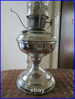 Vintage 1922 to 1928 Aladdin Nickel Oil/Kerosine Lamp