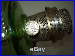 Vintage 1930's Green Washington Drape Aladdin Table oil /kerosene Lamp