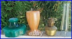 Vintage 1930s Aladdin Venetian Art Glass Vase Oil Kerosene Lamp Model 12