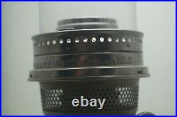 Vintage 1935 36 Aladdin Corinthian Amber Oil Kerosene Lamp & Chimney