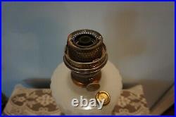Vintage 1935 36 Aladdin White Moonstone Corinthian Oil Kerosene Lamp