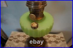 Vintage 1935 36 Green Aladdin B-122 MAJESTIC Oil Kerosene Lamp