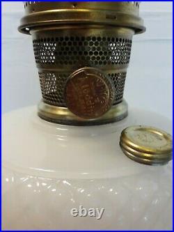 Vintage 1937 Aladdin B-85 Quilt White Moonstone Kerosene Lamp