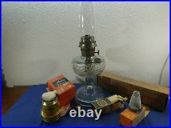 Vintage 1939 Aladdin Lamp, WASHINGTON DRAPE, Model B with EXTRA PARTS