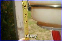 Vintage 1940s Aladdin #12 Alacite Hanging Oil Kerosene Lamp Frame & Chimney