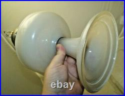 Vintage 1940s Aladdin Venetian White Oil Kerosene Lamp