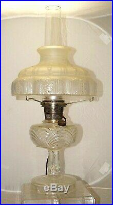 Vintage 1940s Aladdin Washington Drape Kerosene / Oil Lamp With Original Shade