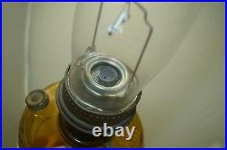 Vintage 1941 42 Aladdin Washington Drape Honey Amber Oil Kerosene Lamp